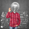 Lamp Head Man Shows OK - PhotoDune Item for Sale