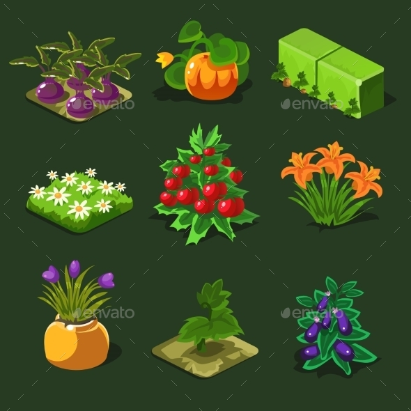 GraphicRiver Farm Of a Bed And Other Elements 11431606