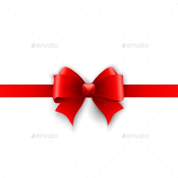 GraphicRiver Invitation Card With Red Holiday Ribbon And Bow 11431633