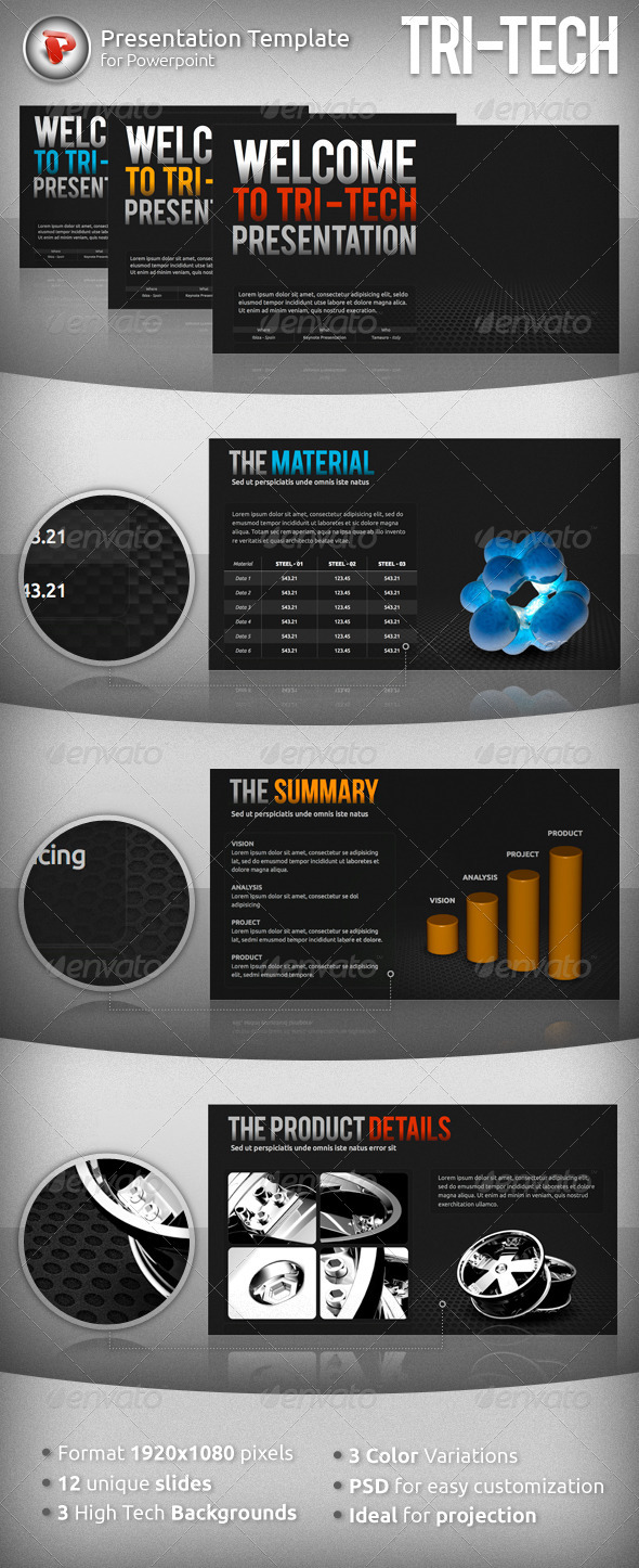 GraphicRiver Tri-Tech Powerpoint Presentation 1146595