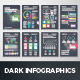 Dark Infographic Brochure Vector Elements Kit 2 - GraphicRiver Item for Sale