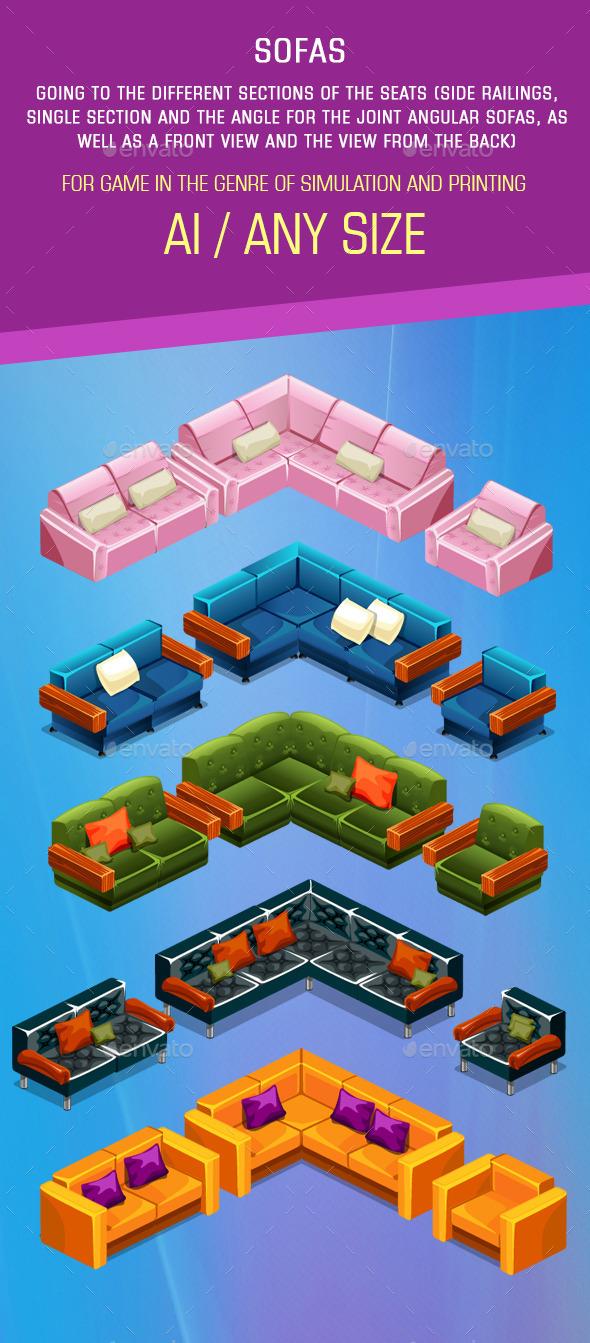 GraphicRiver Five Sofas 11432175