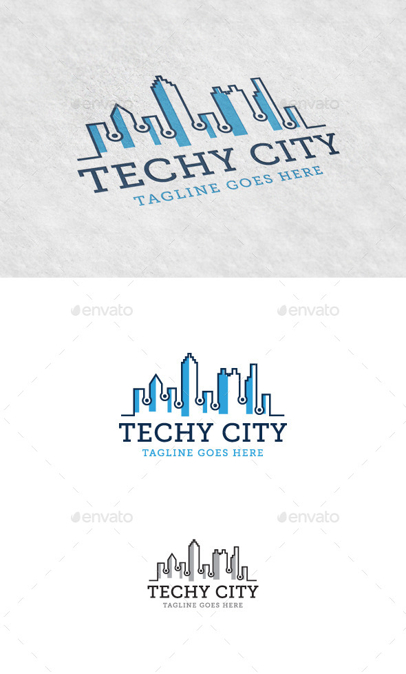 GraphicRiver Techy City Logo Template 11404807