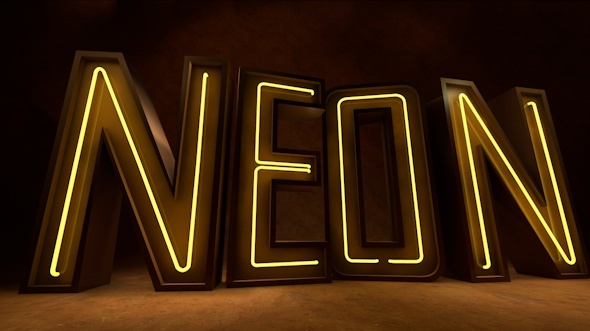Neon Light 3d Alphabet Set A-Z - 3DOcean Item for Sale