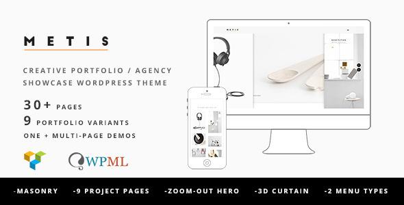 ThemeForest Metis Portfolio Agency WordPress Theme 11369024