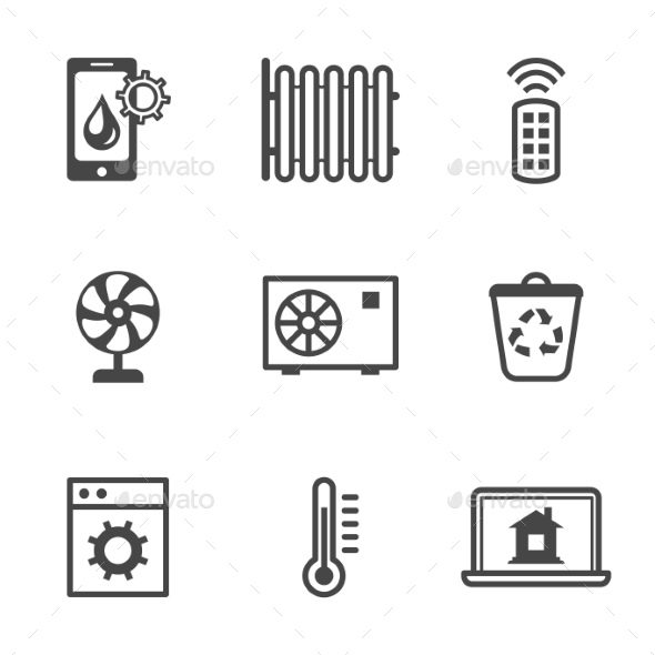 GraphicRiver Smart Home Utilities Security Control Icons 11432458