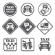 Simple Set Of Taxi Related Vector Icons - GraphicRiver Item for Sale