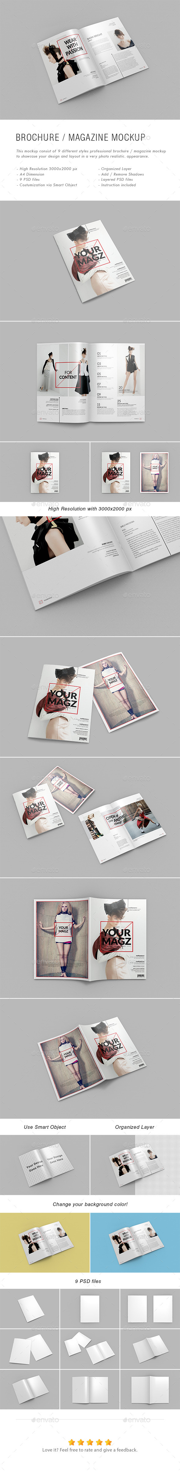 GraphicRiver A4 Brochure Magazine Mock-Ups 11432479
