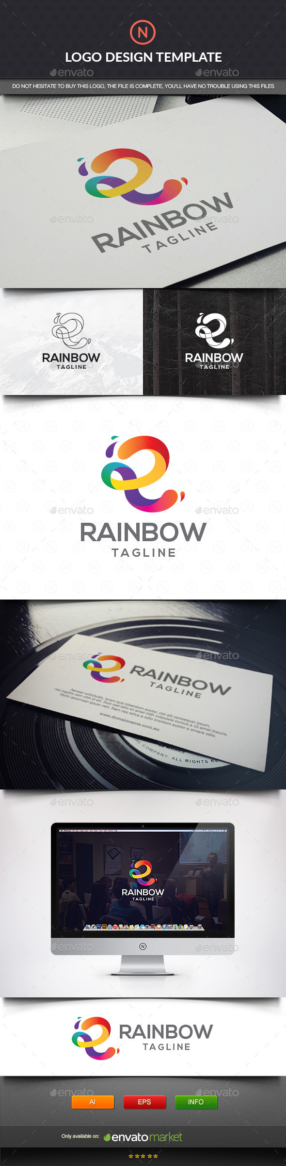 GraphicRiver Rainbow Letter R 11432638