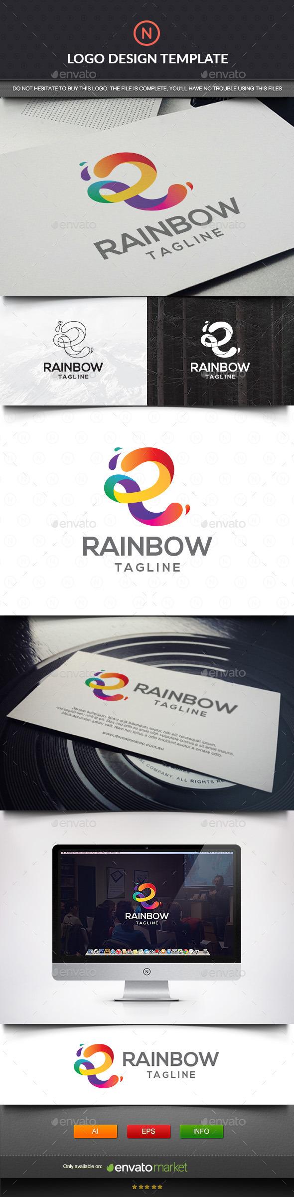 GraphicRiver Rainbow Letter R 11432638