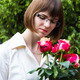 young wooman with roses - PhotoDune Item for Sale