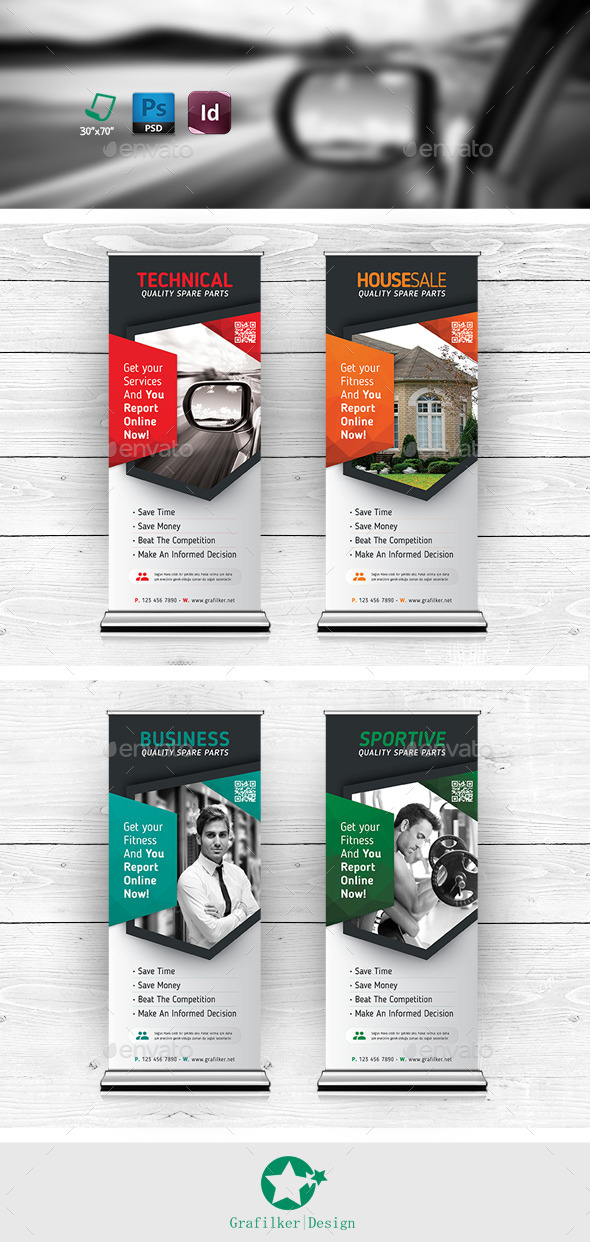 GraphicRiver Multipurpose Roll-Up Templates 11368458