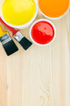 opened paint cans with brushes - PhotoDune Item for Sale