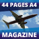 44 Pages Airplane Magazine Modern Template - GraphicRiver Item for Sale