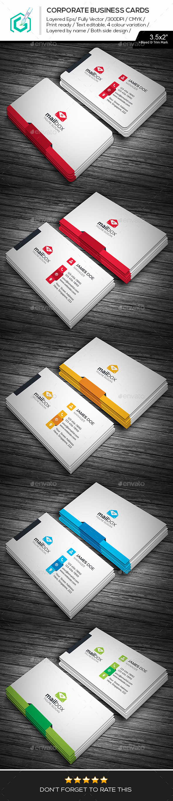 GraphicRiver Mail Box Business Cards 11367311