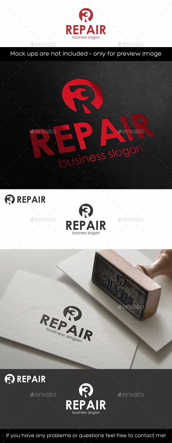 GraphicRiver Repair Logo Template R Letter 11433319