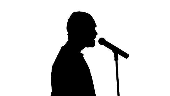 Black Silhouette Of a Microphone And Coming To It