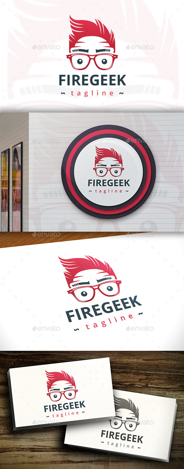 GraphicRiver Geek Fire Logo 11433763