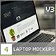 4 Laptop Screen Mockups v3 - GraphicRiver Item for Sale