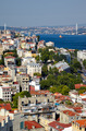 The view from the Galata tower to the residental houses with Bos - PhotoDune Item for Sale
