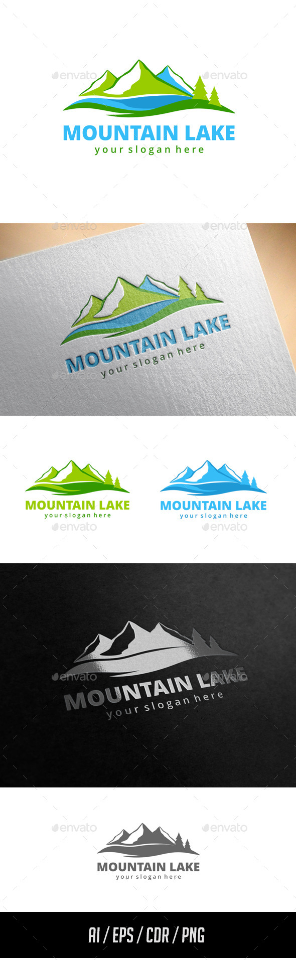 GraphicRiver Mountain Lake Logo Template 11433813