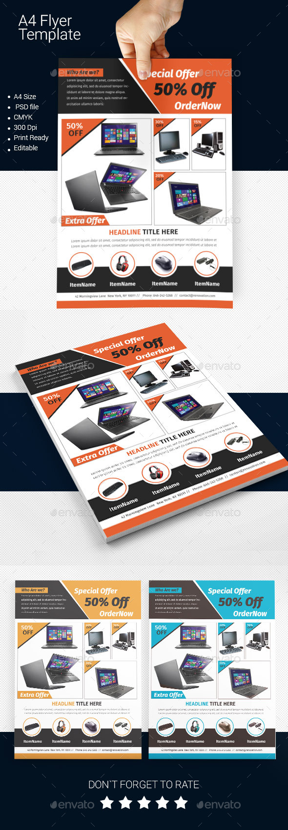 GraphicRiver A4 Business Flyer Template 06 11433946