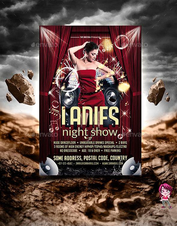 GraphicRiver Ladies Night Show Flyer Template 11434046