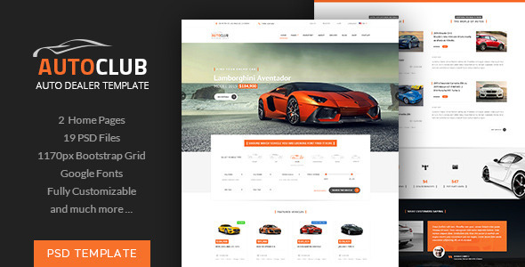 ThemeForest Auto Club Car Dealer Theme 11434047