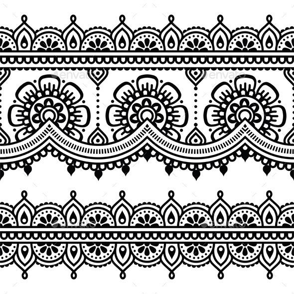 Arabesque And Hindi Graphics Designs Templates