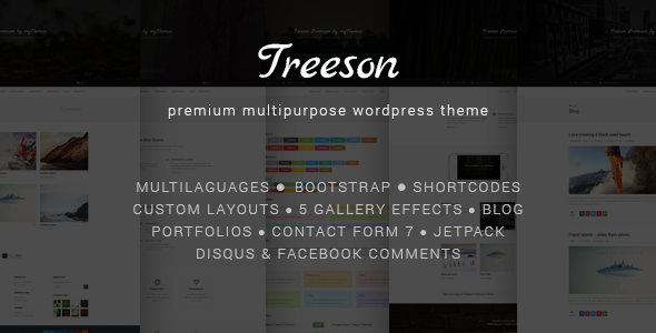 Treeson - Premium Multipurpose Wordpress Theme