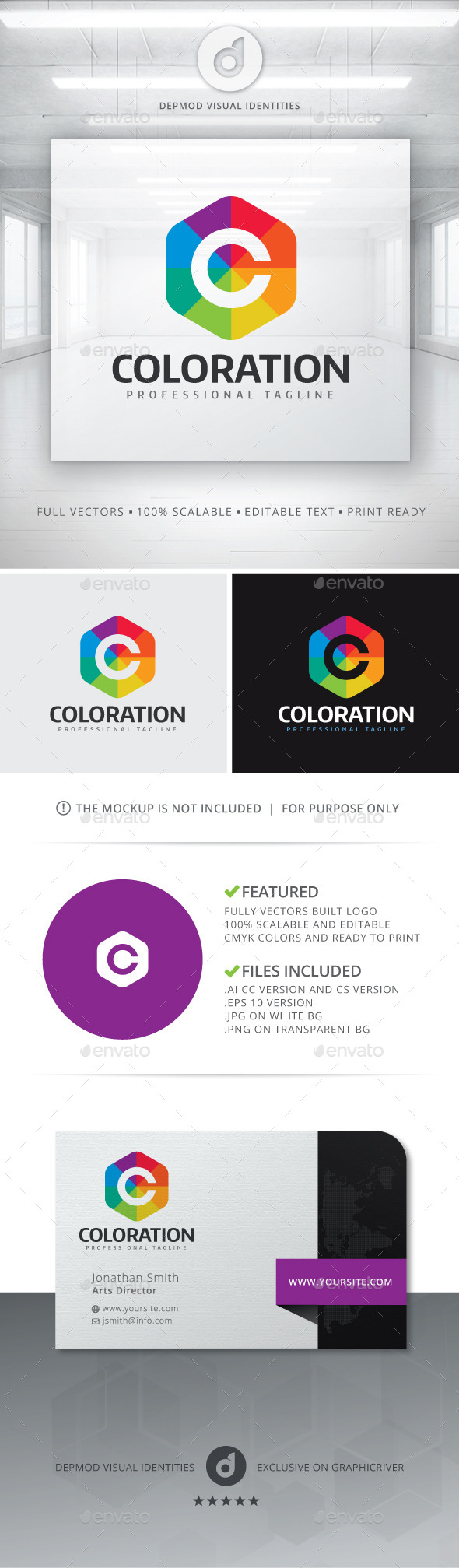 GraphicRiver Coloration Logo 11434242