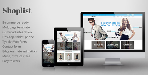 ThemeForest Shoplist eCommerce Muse Template 11393252