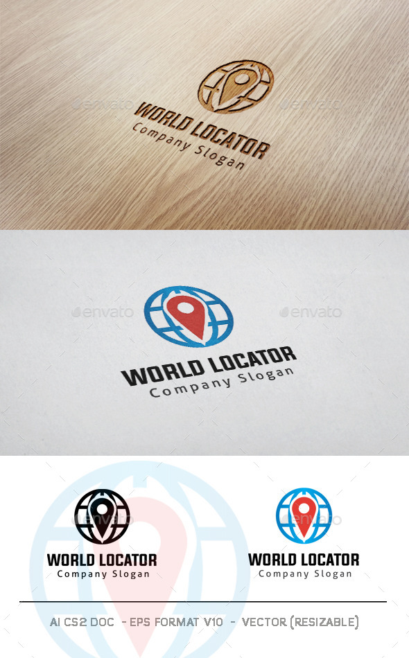 GraphicRiver World Locator Logo 11434511