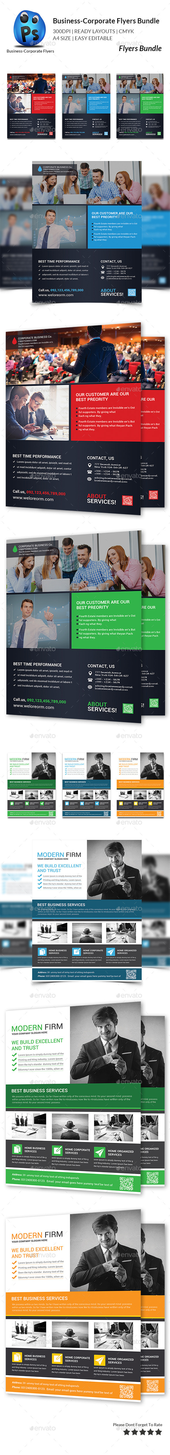 GraphicRiver Business Flyer Template Bundle 11434527