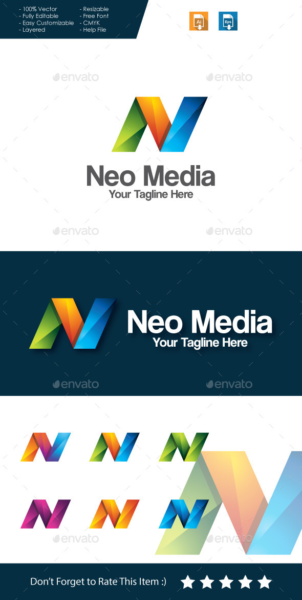 GraphicRiver Neo Media Letter N Logo 11434544