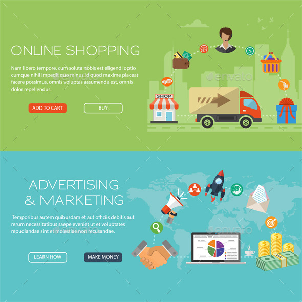 GraphicRiver Online Shopping and Marketing Banners 11434550