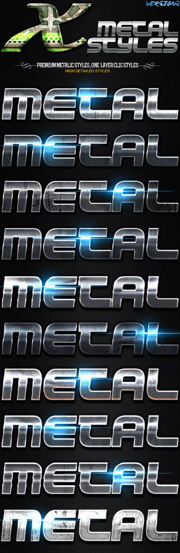 GraphicRiver X Metal Styles 2 11434558