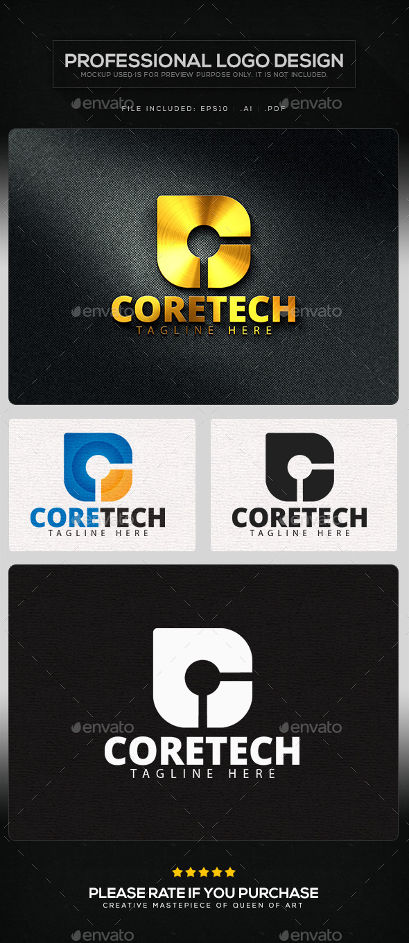 GraphicRiver Core Tech Logo Template 11434579