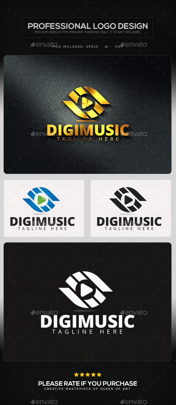 GraphicRiver Digimusic Logo Template 11434793