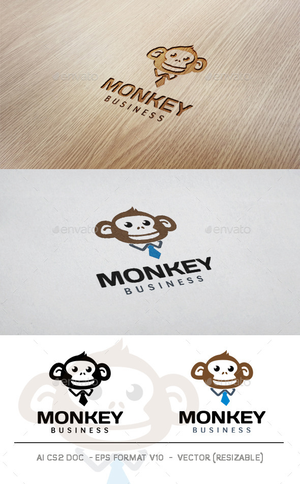 GraphicRiver Monkey Business Logo 11434974