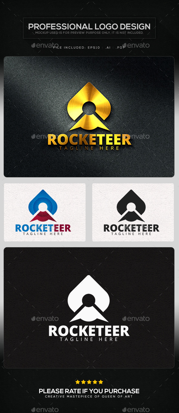 GraphicRiver Rocketeer Logo Template 11435464