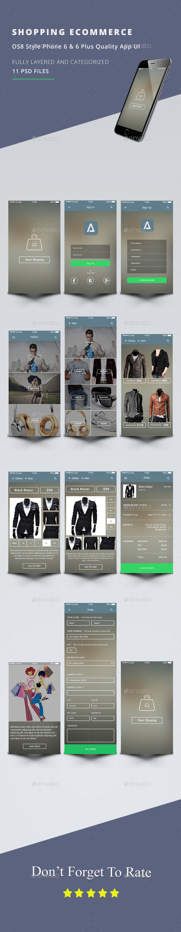 GraphicRiver Shopping eCommerce OS8 Style UI 11436650