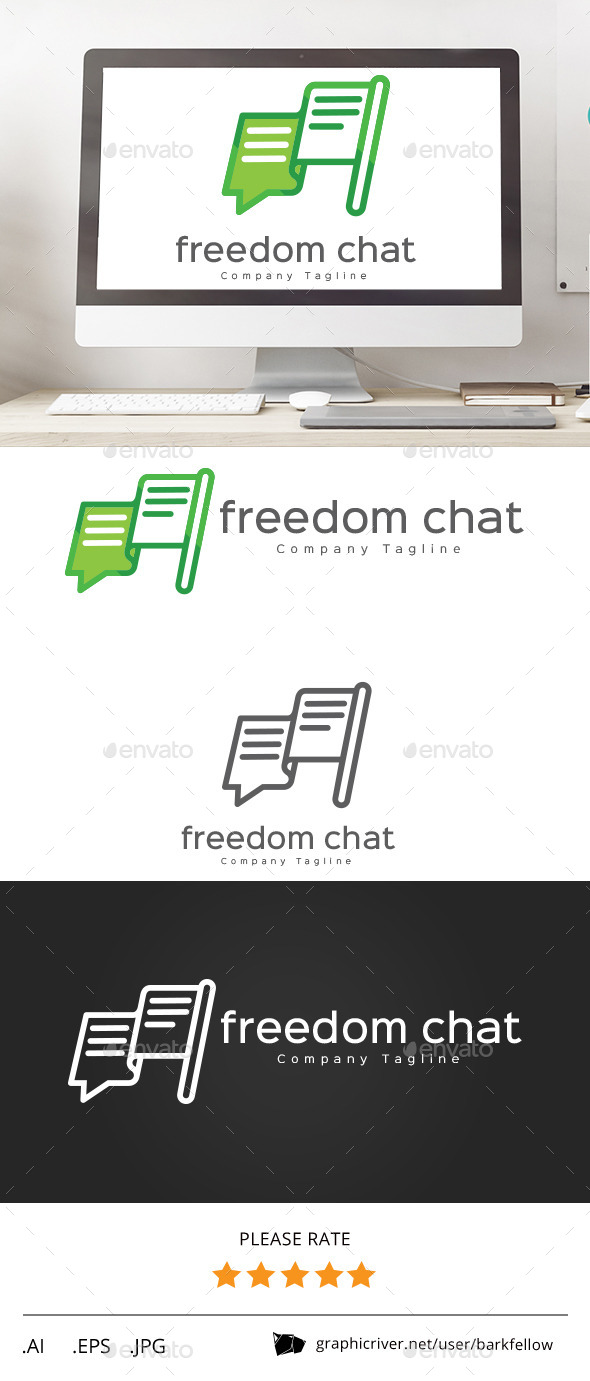 GraphicRiver Freedom Chat Logo 11437380