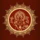 Lord Ganesha Sunburst - GraphicRiver Item for Sale