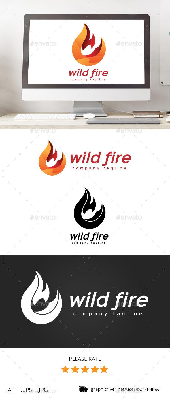 GraphicRiver Wild Red Fire Logo 11437610