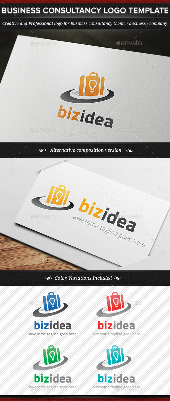 GraphicRiver BizIdea Business Consultancy Logo Template 11437741