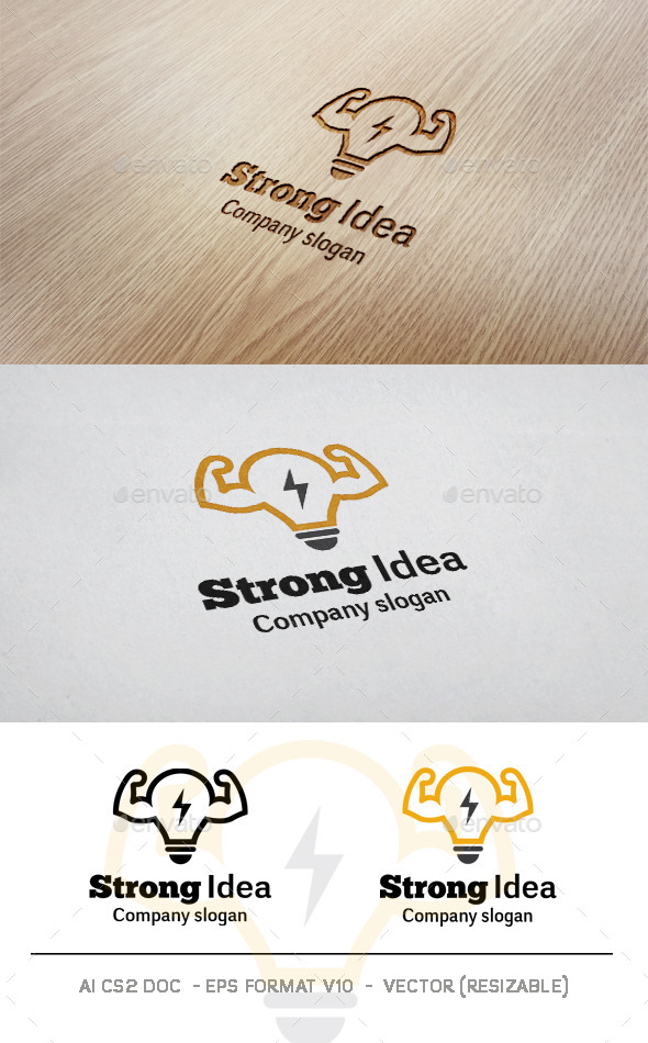 GraphicRiver Strong Idea Logo 11437746