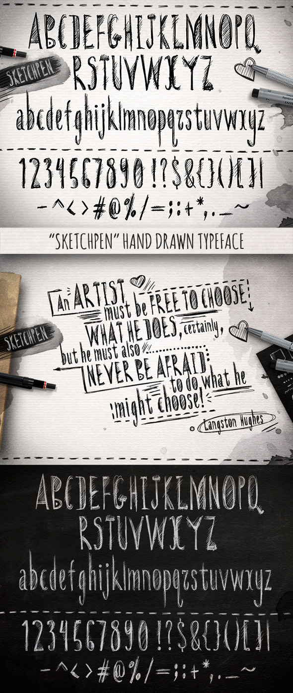GraphicRiver Sketchpen Typeface 11437749