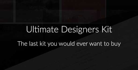 Ultimate Designers CSS Kit - CodeCanyon Item for Sale