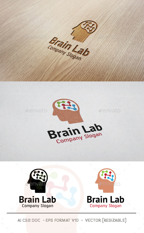 GraphicRiver Brain Lab Logo 11437931